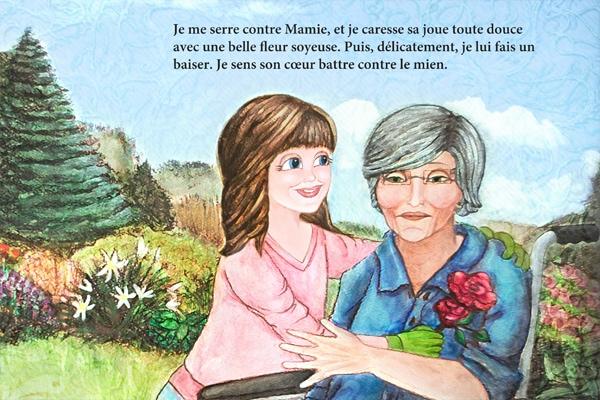 Le livre en français près de la fin de l'histoire
